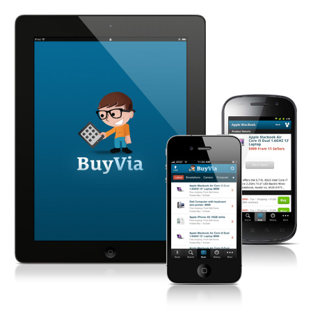 BuyVia App for iPhone, iPad and Android smartphones and tablets