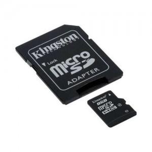 Kingston SDC4/8GB Micro SDHC Class 4 Flash Card - 8GB, Adapter