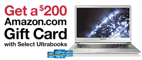 picture of $200 Amazon Gift Card with Select Ultrabooks