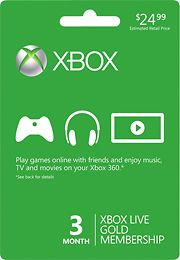 picture of Xbox LIVE 3-Month Gold Membership Sale