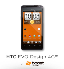 picture of HTC EVO Design 4G Android Phone Sale