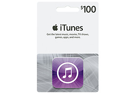 $100 iTunes Card Sale