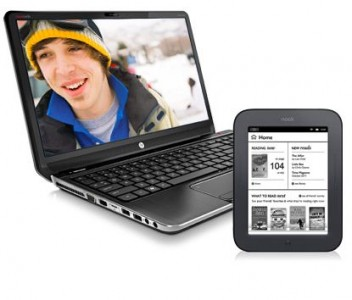 picture of HP Free Nook Simple Touch with HP Notebook or Desktop PC