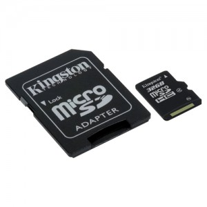 picture of Kingston 32GB microSDHC Class 10 Memory Card wAdapter Sale