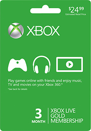 picture of Microsoft Xbox LIVE 3-Month + Free 3 Months