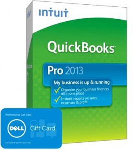picture of Intuit QuickBooks Pro 2013 w/$100 Dell Gift Card