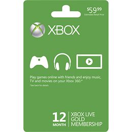 picture of Xbox LIVE 12 Month Gold Membership Sale