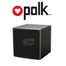 Polk logo and subwoofer