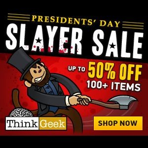 ThinkGeek Presidents Day Sale