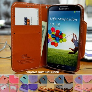 picture of Samsung Galaxy S4 Faux Leather Case + Free Screen Protector Sale