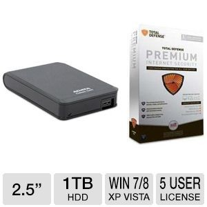 picture of ADATA 1TB Portable HD + Total Defense Security
