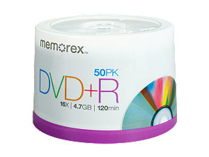 picture of Memorex 50 Pack DVD+R Media Sale