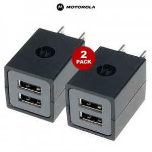 picture of Motorola 2-Pack Dual USB Port Travel Cube Charger - 93% off