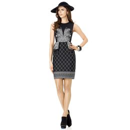 spiegel-Deco Dress in Black-White