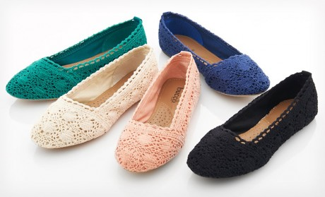 picture of Bucco Macy Crochet Flats 56% Off at Groupon