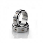 Stainless-Steel-Spinner-Ring-With-Black-Star-Inlays