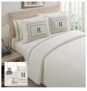 picture of Victoria Classics Monogrammed Sheet Set 69% Off