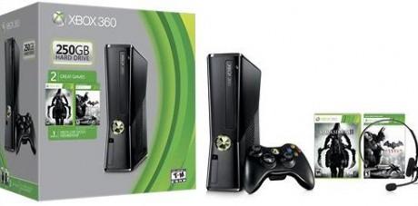picture of Xbox 360 Console 250GB w/Darksiders, Batman:AC Sale