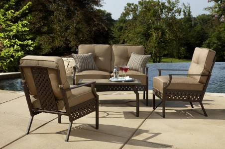 picture of La-Z-Boy Outdoor Kennedy 4pc Seating Set on Clearance