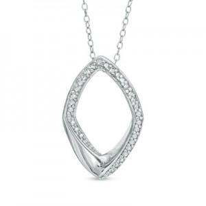 picture of Diamond Accent Geometric Pendant 83% Off