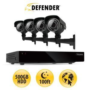 picture of Defender 500GB Surveillance System - 4 Cameras