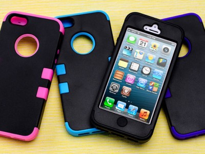 picture of iPhone 4/4S/5 Hybrid Case + Screen Protector Sale