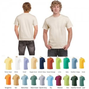 picture of 12 Pack: Men's Short-Sleeve 100% Cotton Crew-Neck Tee Sale
