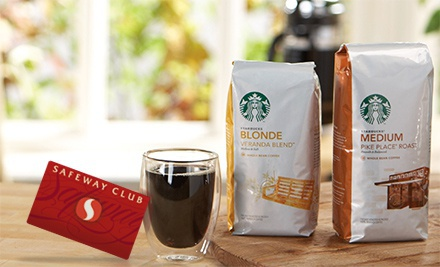 picture of Safeway Bag of Starbucks Coffee $9 with $5 Starbucks Gift Card