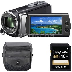picture of Sony HDR-CX190 1080 HD Camcorder w/Case, Card Sale