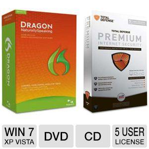 Total Defense Premium Internet Security and Dragon Speech Recognition Bundle Sale