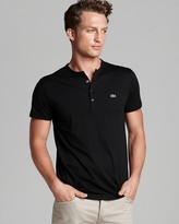 picture of Lacoste Pima Cotton Henley Tee 43% Off