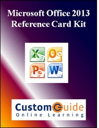 picture of Free Office 2013 Reference Card Kit