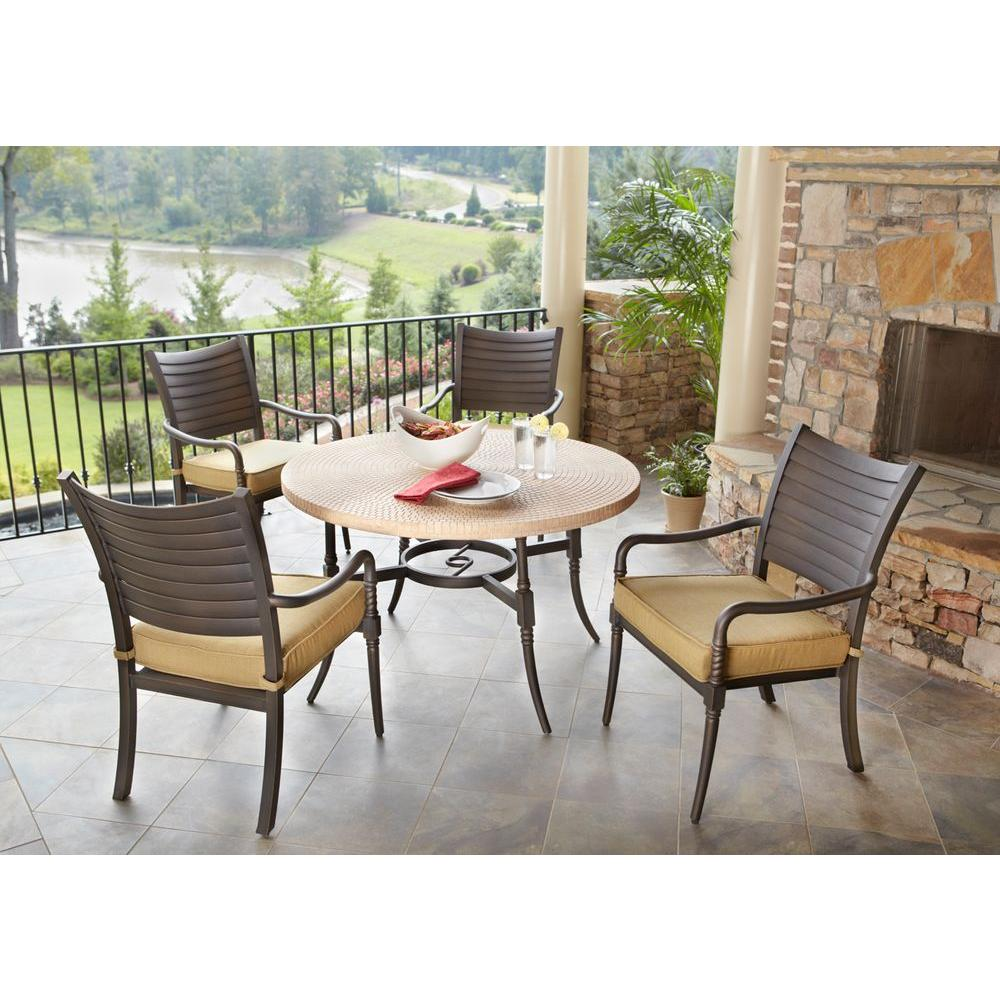 hampton bay madison 5 pc patio dining set sale buyvia