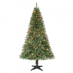 picture of Home Depot 6.5 ft. Pre-Lit Verde Pine Tree 75% Off