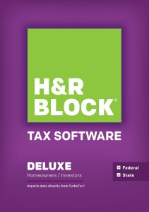 H&R Block Tax Software 2013 Deluxe + State 51% Off