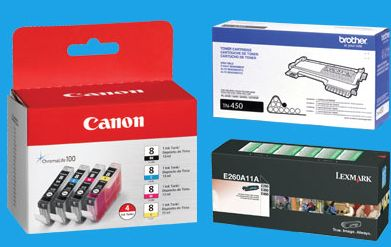 VARIOUS-INK-TONER-packages