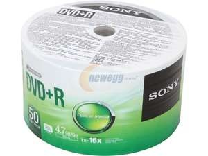 picture of Sony 50 Pack DVD+R Media Sale