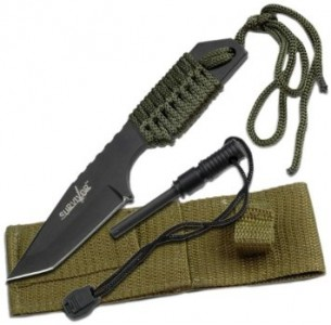 picture of Survivor Fixed Blade Knife w/ Fire Starter Sale