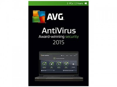 picture of AVG Antivirus 2015 - 3 PCs, 2 Years Free w/Gift