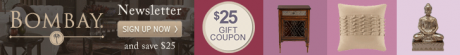picture of Free $25 Gift Coupon for Bombay Company