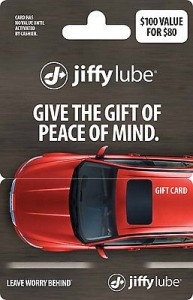 Jiffy Lube Gift Card Discount