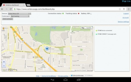 picture of Free Cerberus Anti Theft Android App