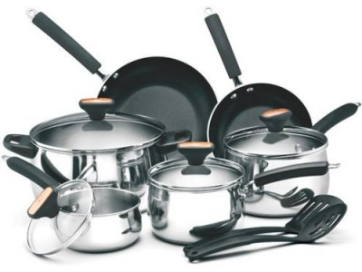 picture of Paula Deen Stainless Steel 12-pc. Cookware Set Sale