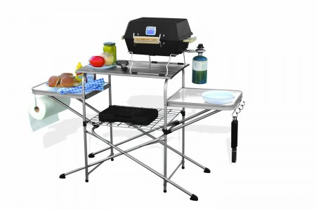 picture of Camco Deluxe Folding Grilling Table Super Sale