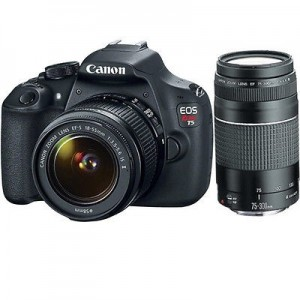 Canon T5 DSLR 18-55, 75-300 Lens Kit