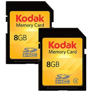 picture of Kodak 2 pack 8GB SDHC Memory Card Sale