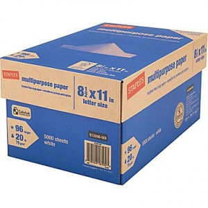 picture of Staples Copy Paper 5,000 Sheet Case Sale