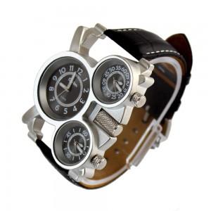 picture of Oulm Military Quartz 3-Dial Men's Watch Sale