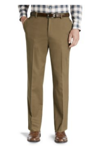 picture of Jos A Bank Classic Collection Tailored Fit Plain Front Twill Pants Sale