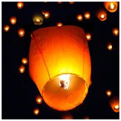 picture of Sale (50) White Paper Chinese Lanterns